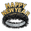Black & Gold Happy New Year Regal Tiara