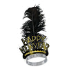 Black & Gold Swing New Year's Eve Tiaras
