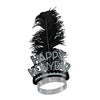 Black & Silver Swing New Year's Eve Tiara