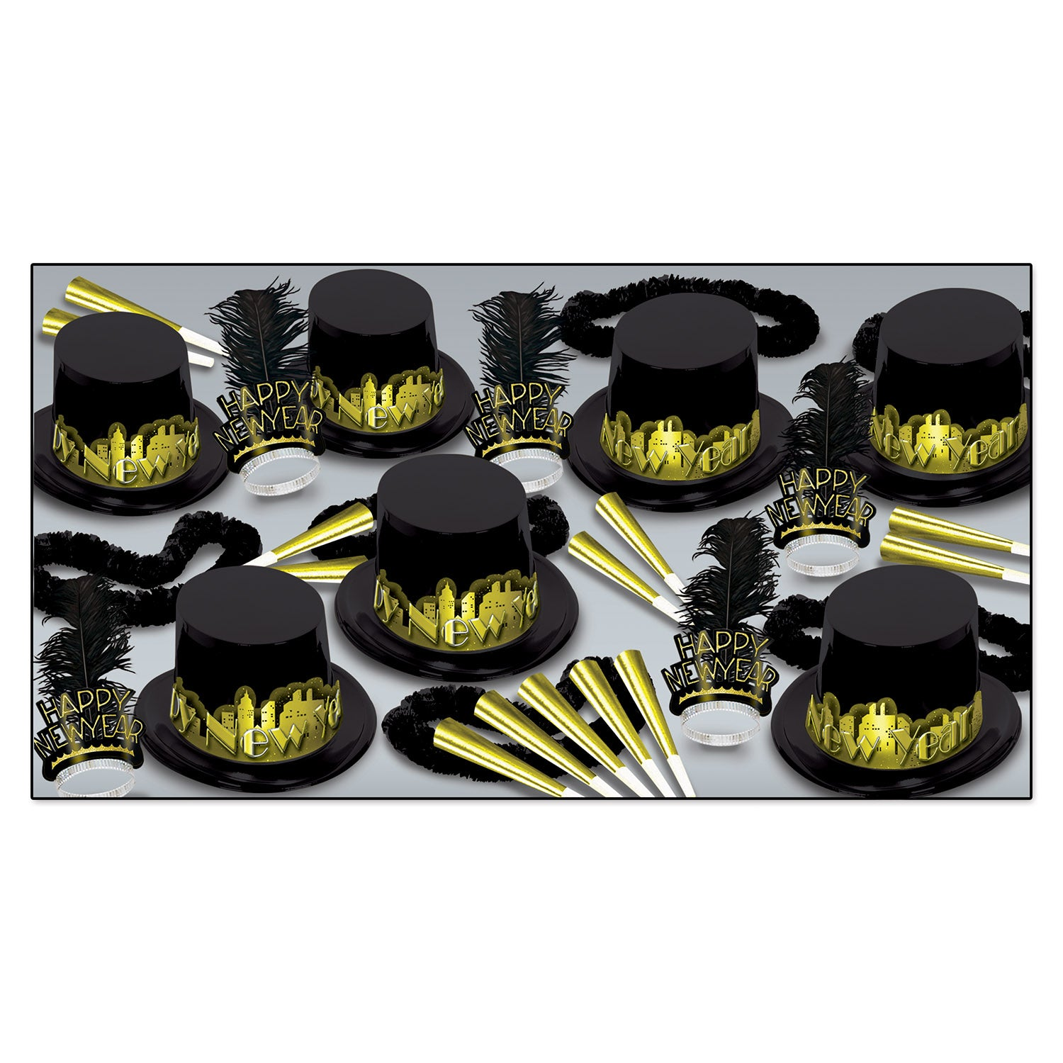 Beistle Gold Starry Night New Year's Eve Party Kit for 50 ...