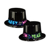 Neon New Years Party Topper Hat