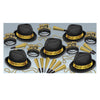 Chairman Gold Assortment for 10, party supplies, decorations, The Beistle Company, New Years, Bulk, Holiday Party Supplies, Discount New Years Eve 2017 Party Supplies, 2017 New Year's Eve Party Kits, New Year's Party Kits for 10 People