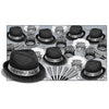 Chairman Silver Assortment for 50, party supplies, decorations, The Beistle Company, New Years, Bulk, Holiday Party Supplies, Discount New Years Eve 2017 Party Supplies, 2017 New Year's Eve Party Kits, New Year's Party Kits for 50 People
