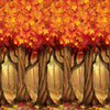 Beistle Fall Trees Backdrop (Pack of 6) - Thanksgiving Party Decorations, Thanksgiving Party Supplies