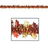 Fire Resistant Metallic Autumn Leaf Garland