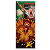 Wild Turkey Door Cover, party supplies, decorations, The Beistle Company, Fall/Thanksgiving, Bulk, Holiday Party Supplies, Thanksgiving Party Supplies, Thanksgiving Party Decorations