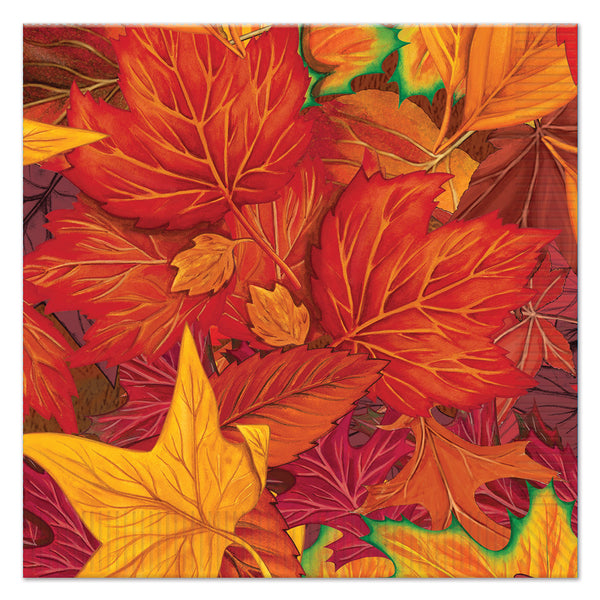 Case Of 192 Beistle Fall Leaf Luncheon Napkins