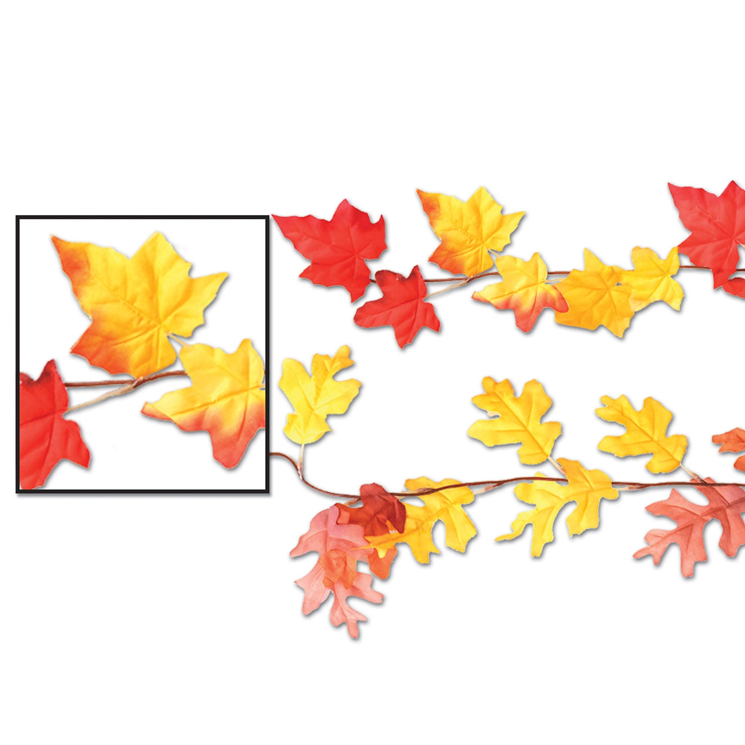 Case Of 12 Beistle Thanksgiving Party Autumn Leaf Garlands