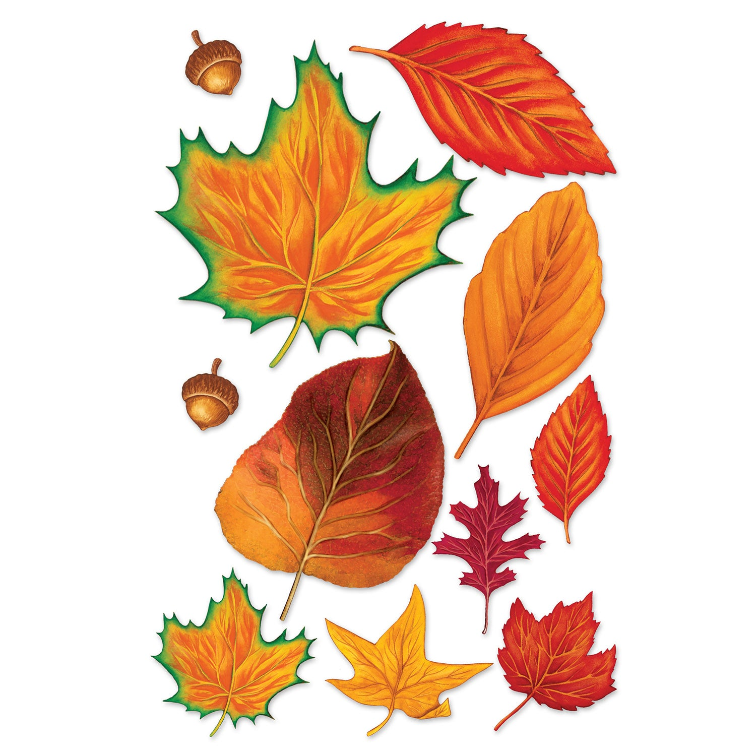 - Case Of 132) Beistle Fall Leaf Cutouts