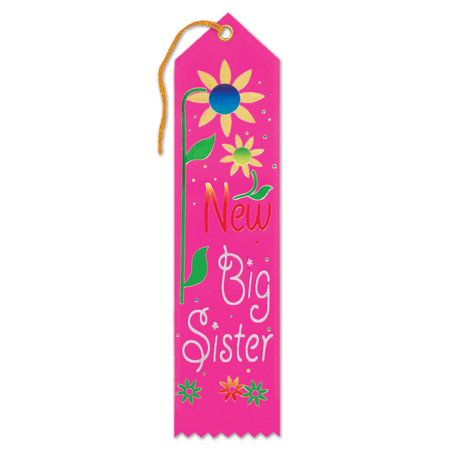 Case Of 6 Beistle New Big Sister Award Ribbon