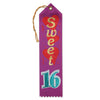 Sweet Sixteen Award Ribbon (Pack of 6)