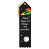 With God, All Things Are Possible Inspirational Ribbon