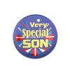 Very Special Son Satin Button (Pack of 6)