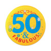 50 & Fabulous Satin Button