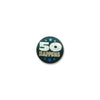 50 Happens Satin Button (Pack of 6)