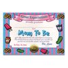 Mom To Be Certificate (Pack of 6)