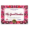 Very Special Sweetheart Certificate (Pack of 6)