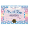 It's A Boy Certificate (Pack of 6)