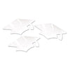 White Metallic Grad Cap Cutouts