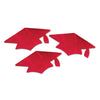 Red Metallic Grad Cap Cutouts