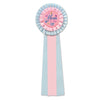 Mom To Be Deluxe Rosette - Pink/Blue