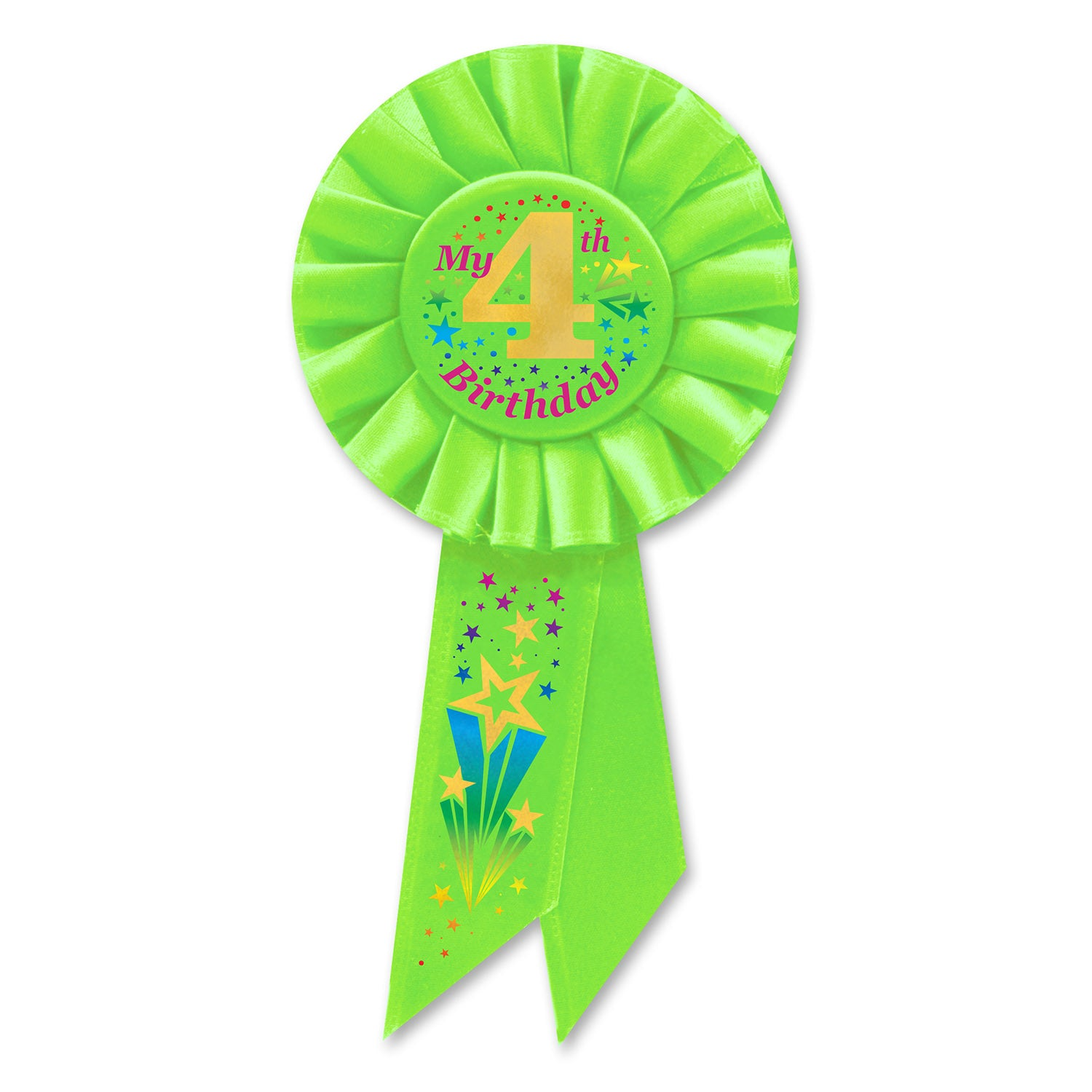 My 4th Birthday Rosette Party Supplies Decorations The Beistle Company