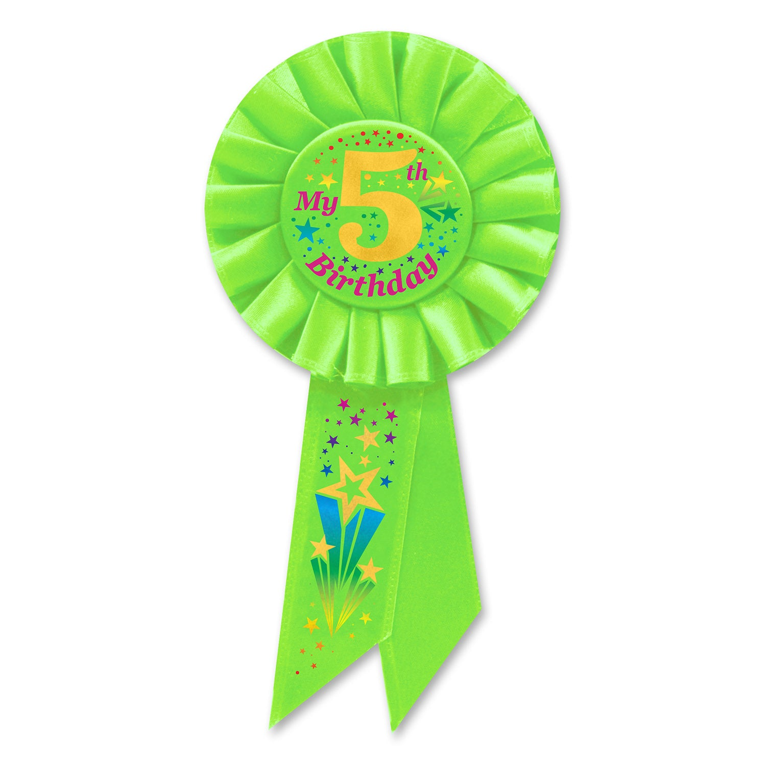 My 5th Birthday Rosette Party Supplies Decorations The Beistle Company
