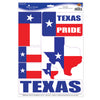 Beistle Texas Pride Peel 'N Place Clings (12 packs) - Western Party Decorations, Western Party Theme