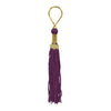 Maroon Tasseled Key Chain