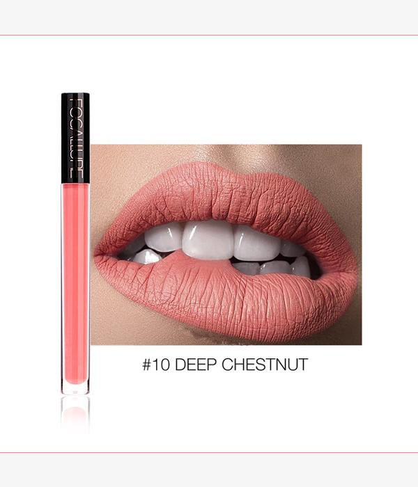 Matte Velvet Lip Gloss #10 DEEP CHESTNUT ... LG82 - Arnaud and Co