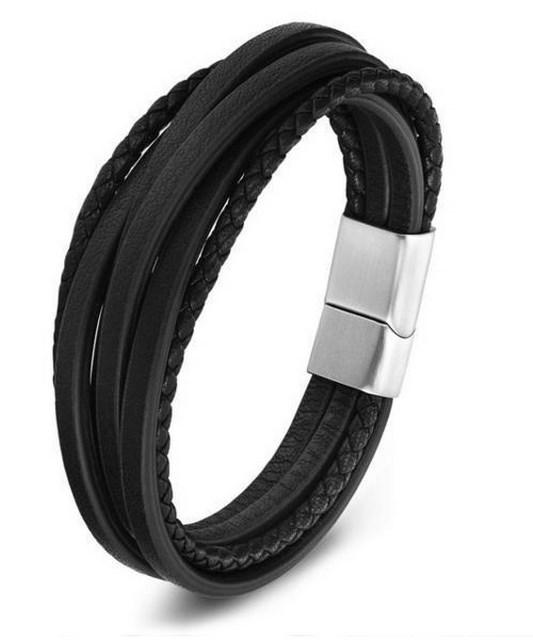 "Braided bracelets in ""genuine leather"" for men and women ... - Arnaud and Co"