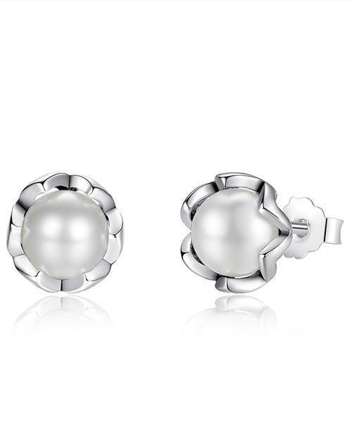 925 Silver: Earrings with freshwater pearls ... BFF05