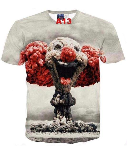 Tee-shirt 3D hommes tendance en coton et polyester... TH06 - Arnaud and Co