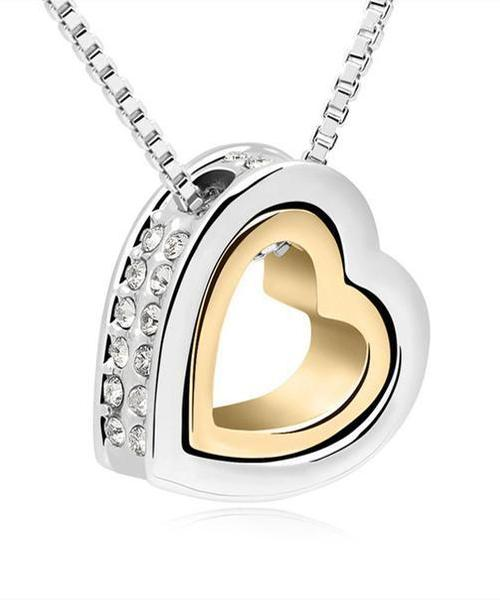 necklaces for women in the shape of heart ...