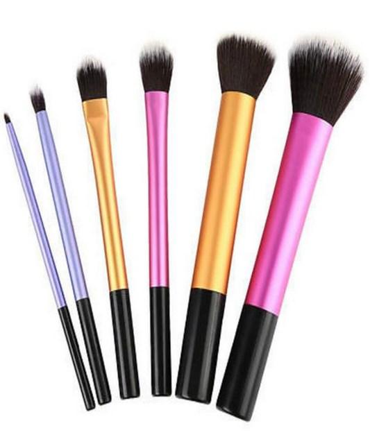 6 PCS Portable Makeup Brushes