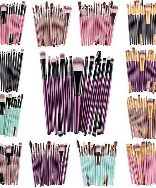 """Miami"" Pro 15Pcs / Makeup Brush Kit"