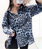 Leopard Printed Casual Style Casual Shirt with Loose Fit ... AP14 - Arnaud and Co