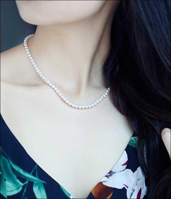 Natural Chic Freshwater Cultured Pearls Necklace, Classic Chic Style ... BCF08 - Arnaud and Co