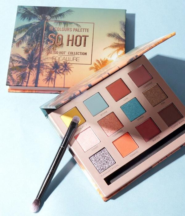 "Palette "" SO HOT"" Focallure 12 Couleurs d'Inspirations Tropicales ... MY64"