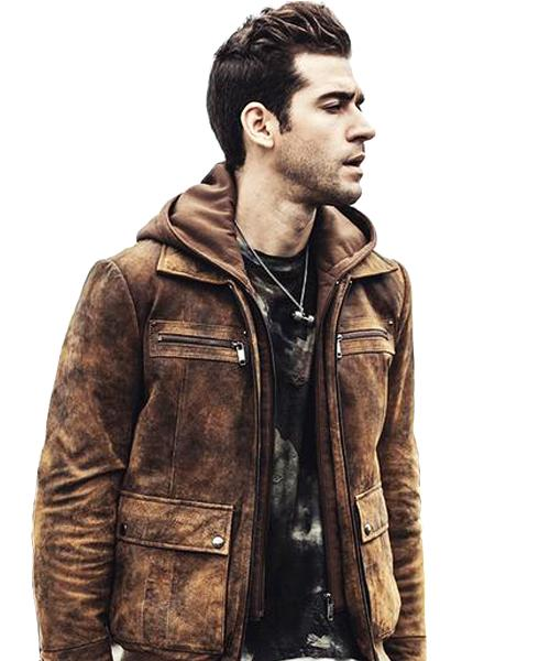 """Retro"" Leather Jacket with Removable Hood ... WBH018 - Arnaud and Co"