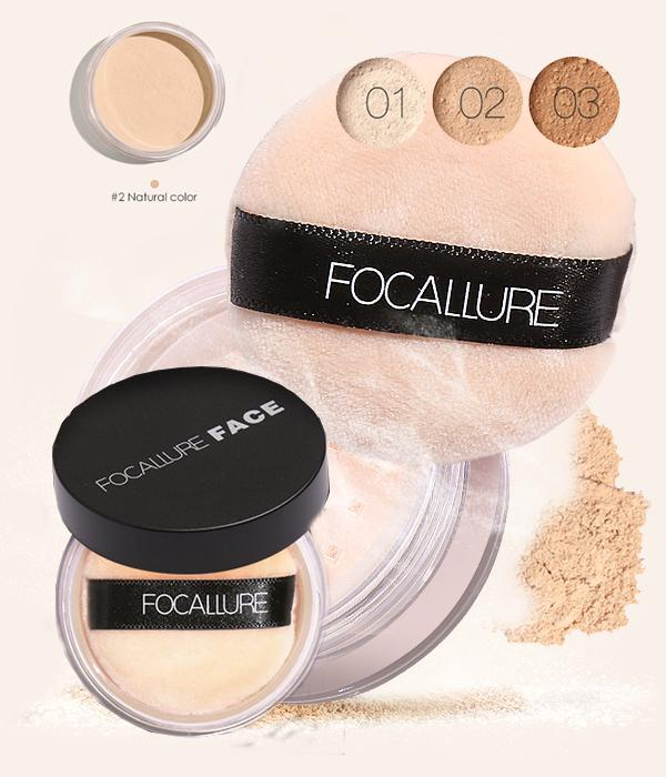 "Focallure : Fond de teint en poudre ""Face Foundation"" #02 Natural Color... MV18 - Arnaud and Co"