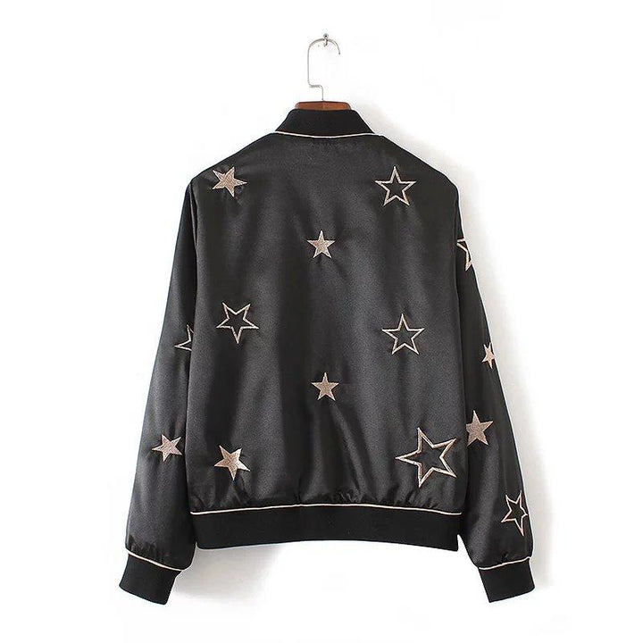 Star embroidered satin bomber ... BF005 - Arnaud and Co
