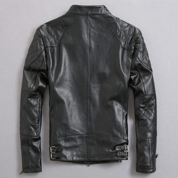 "Leather jacket ""Beckham"" model biker style ... WBH011 - Arnaud and Co"