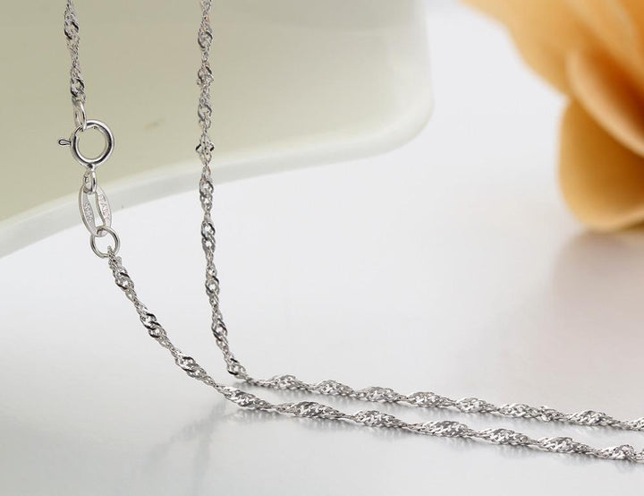 "Necklace ""Torsade Mesh"" in Silver 925, Available in several Length: 35 - 80 cm ... BCFR05 - Arnaud and Co"