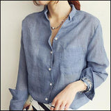 Long Sleeve Linen Shirt HCF009 - Arnaud and Co