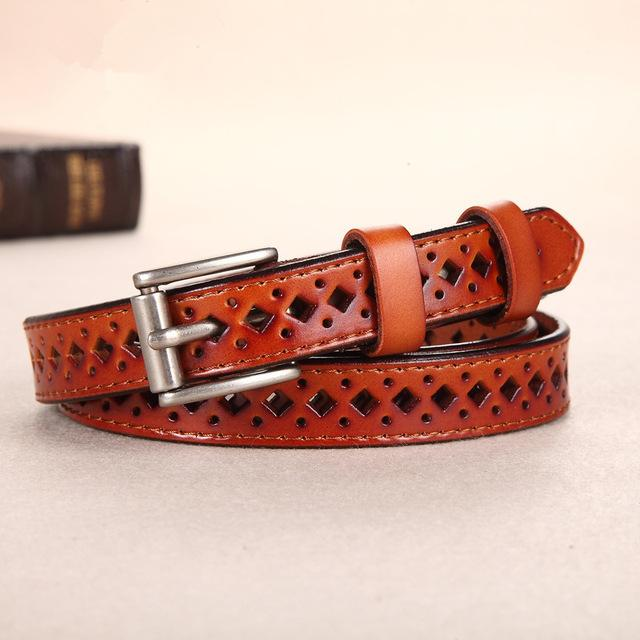 """Genuine Leather"" Women's Belts CF003 - Arnaud and Co"