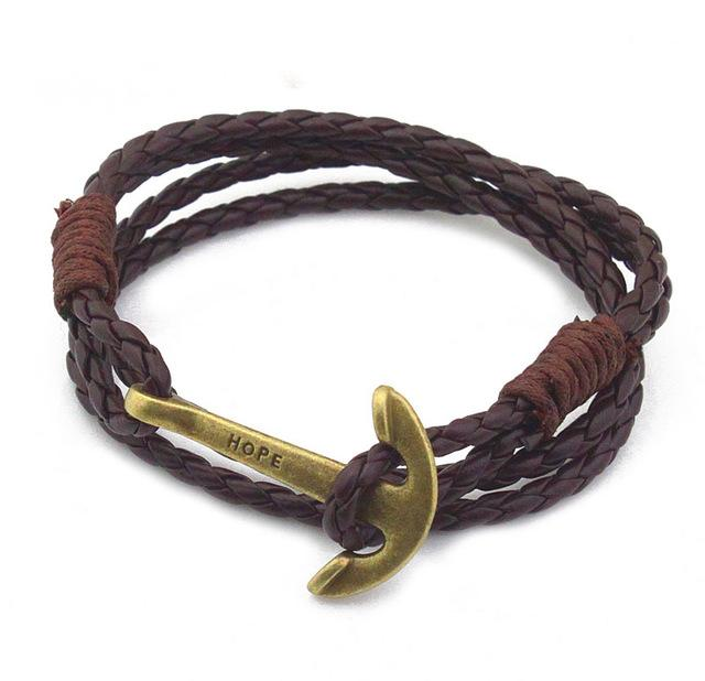 Leather Bracelets for Men length 40 cm - Arnaud and Co
