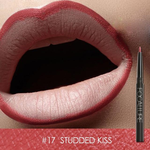 Waterproof Lip Pencil Focallure 19 Colors #17 STUDDED KISS ... LG109 - Arnaud and Co