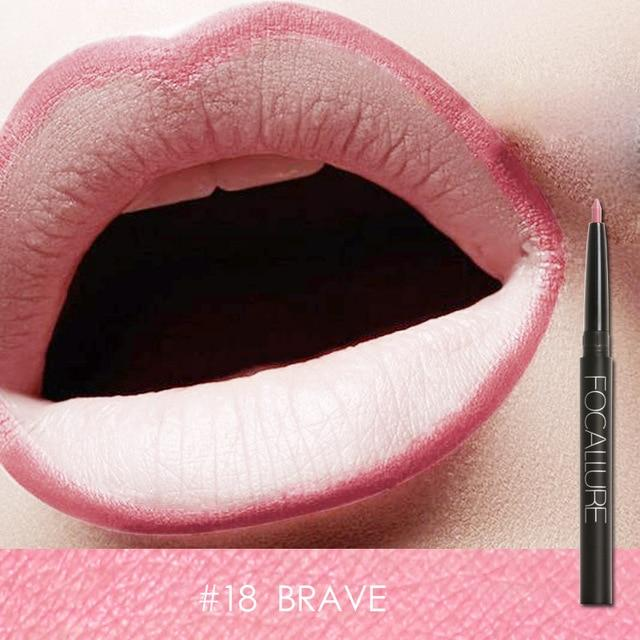 Waterproof Lip Pencil Focallure 19 Colors #18 BRAVE ... LG110 - Arnaud and Co