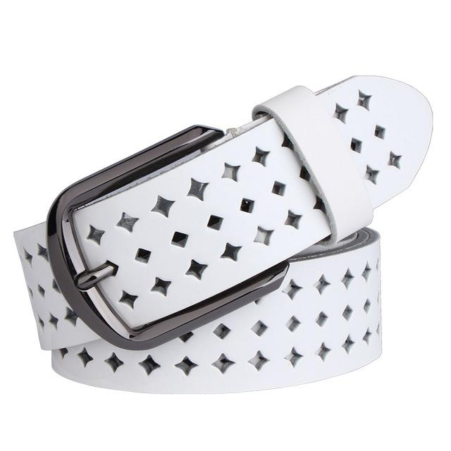 Leather belt motif stars ... CF011 - Arnaud and Co